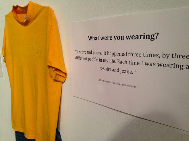 Tu étais habillée comment ?