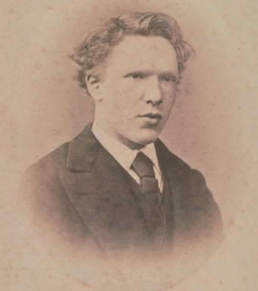 photo de Vincent Van Gogh à 19 ans