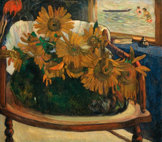 Tournesols sur un fauteuil de Paul Gauguin