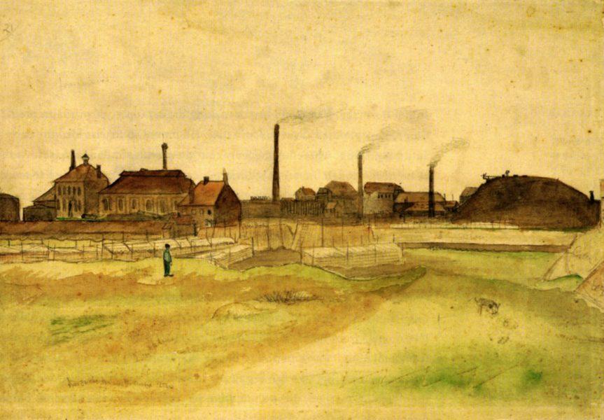Mine de charbon dans le Borinage, Vincent Van Gogh