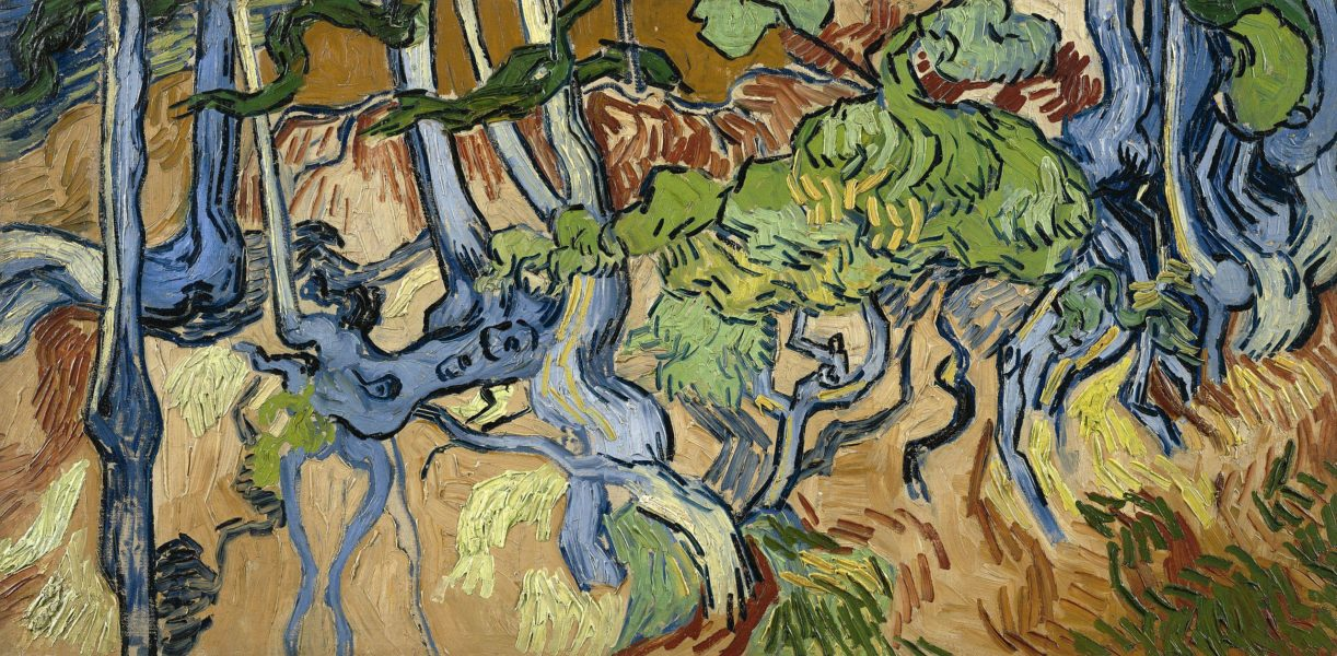 Racines d'arbres de Vincent Van Gogh